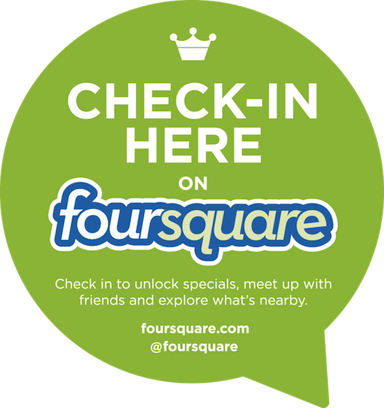 Check in on Foursquare