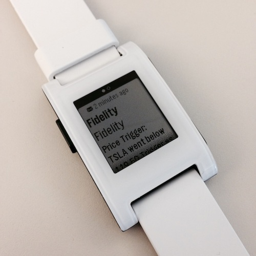 White Pebble Smart Watch