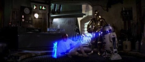R2D2 holographic projection