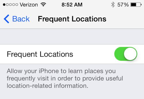 iOS7 Location Services